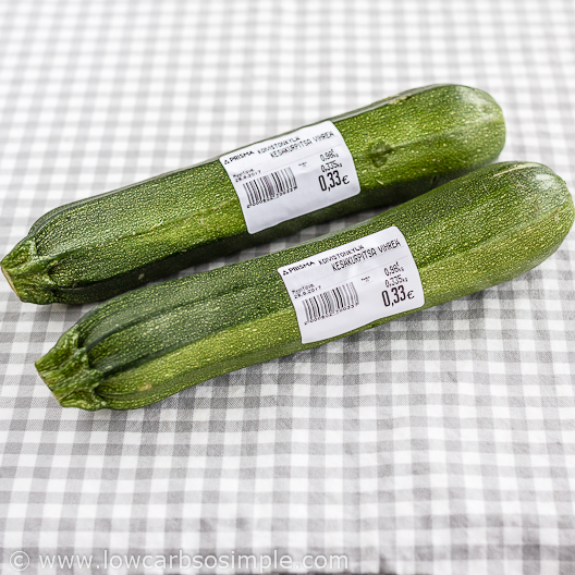 Pizza Stuffed Zucchini; Two zucchinis of (exactly!) the same size | Low-Carb, So Simple