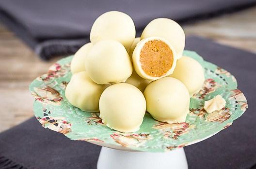 Pumpkin White Chocolate Truffles | Low-Carb, So Simple