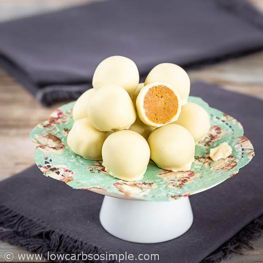 Pumpkin White Chocolate Truffles | Low-Carb, So Simple
