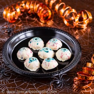 Pumpkin White Chocolate Truffles; Halloween Version | Low-Carb, So Simple