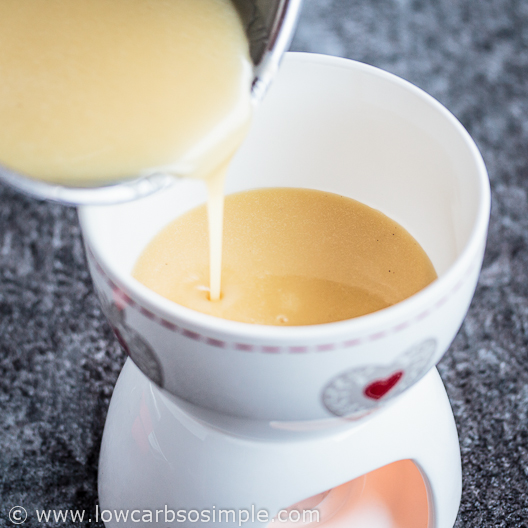 Transferring to a fondue pot | Low-Carb, So Simple