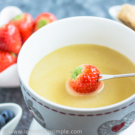 2-Ingredient Champagne White Chocolate Fondue | Low-Carb, So Simple