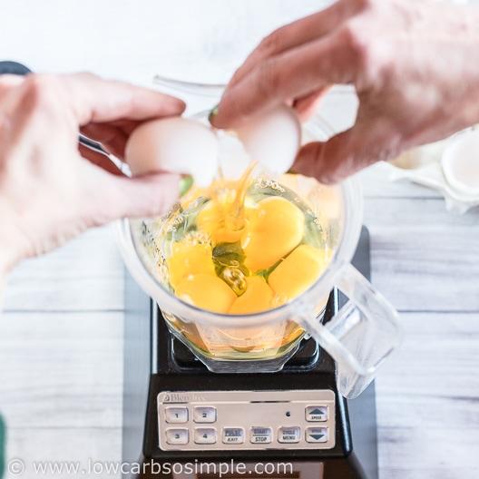 Putting Eggs to Blender Jar | Low-Carb, So Simple