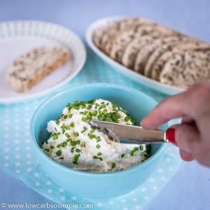 Cream Cheese Garlic Spread with Feta | Low-Carb, So Simple