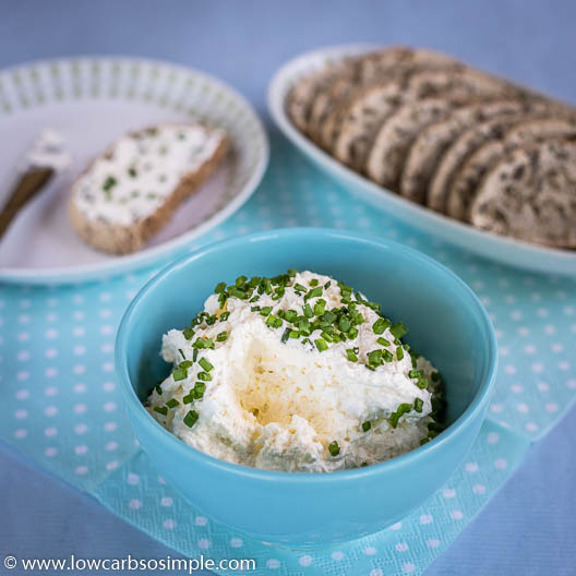 Cream Cheese Garlic Spread with Feta | Low-Carb, So Simple
