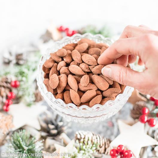 Chocolaty Roasted Almonds   Low-Carb, So Simple