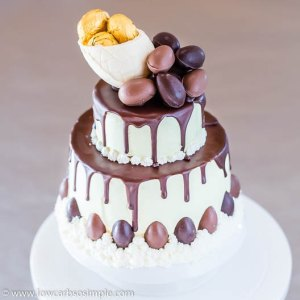 Easter 2019 -- Keto Chocolate Drip Cake   Low-Carb, So Simple