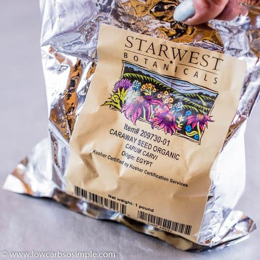Big Bag of Caraway Seeds | Low-Carb, So Simple