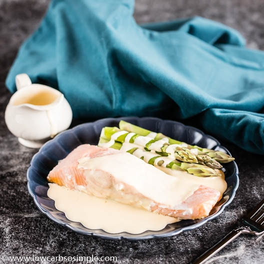 Foolproof 4-Ingredient Blender Hollandaise with Salmon | Low-Carb, So Simple