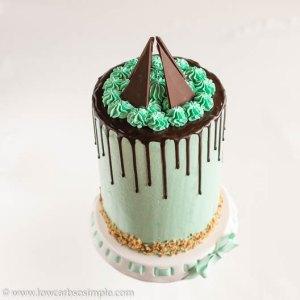 Mint Chocolate Keto Drip Cake   Low-Carb, So Simple