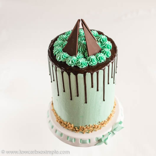 Mint Chocolate Keto Drip Cake | Low-Carb, So Simple