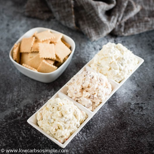 3 Types of Cream Cheese Olive Spread or Dip | Low-Carb, So Simple