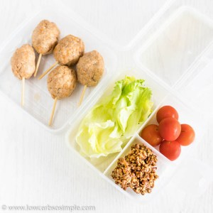 Lunch Box with 4-Ingredient Crunchy Savory Pecan Clusters | Low-Carb, So Simple