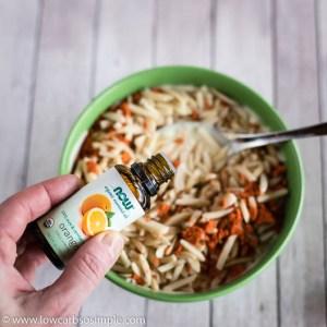 Adding Orange Essential Oil | Low-Carb, So SImple