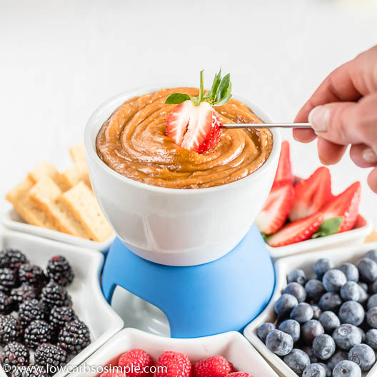Keto (Pea)nut Butter White Chocolate Fondue