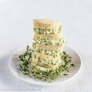 Keto English Muffin Filled with Egg Salad with Avocado | Low-Carb, So Simple