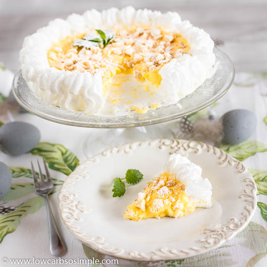 5-Ingredient Keto Lemon Curd Pavlova | Low-Carb, So Simple