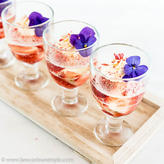4-Ingredient Keto Sparkling Wine and Strawberry Jelly