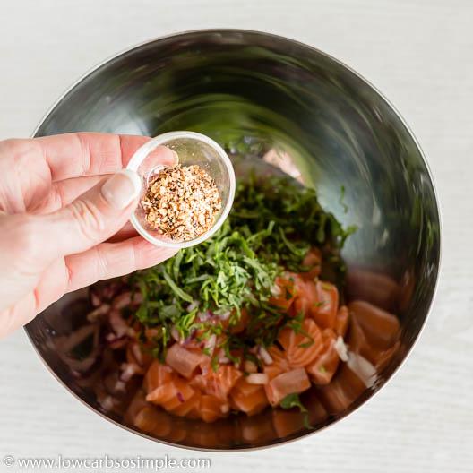 Adding Montreal Steak Seasoning | Low-Carb, So Simple