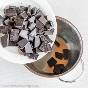 Adding Chocolate into Saucepan | Low-Carb, So Simple