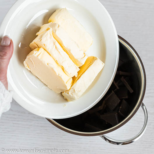 Adding Butter into Saucepan   Low-Carb, So Simple