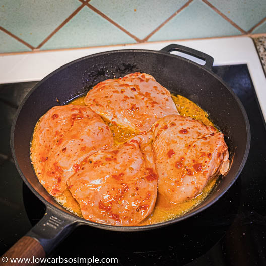 Chicken Added to the Skillet | Low-Carb, So SImple