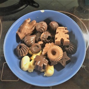 Suklaajoulukalenteria Leolle