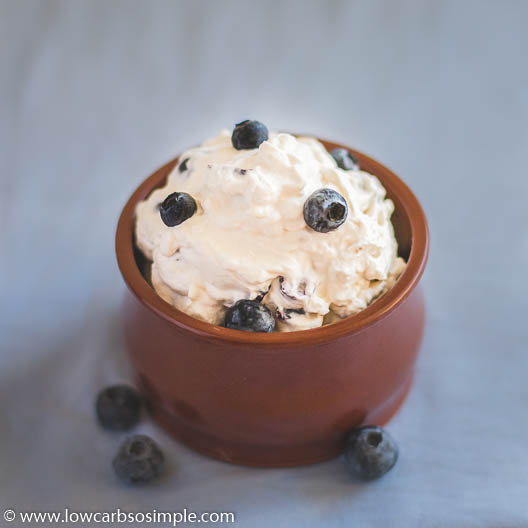 Keto Blueberry Lemon Cheesecake Mousse | Low-Carb, So Simple