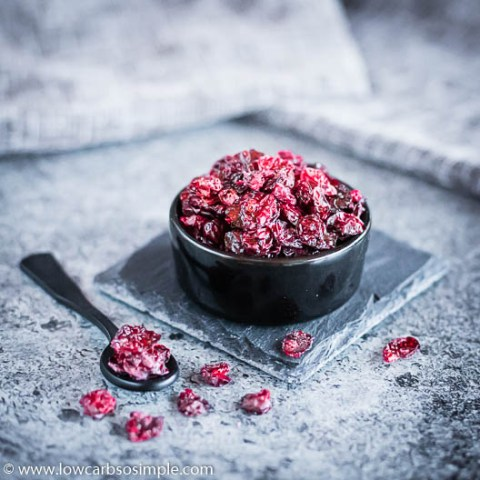 Homemade Sugar-Free Keto Craisins aka Dried Cranberries | Low-Carb, So Simple
