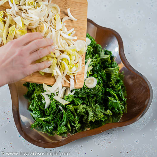 Adding Endive on a Serving Plate   Low-Carb, So Simple