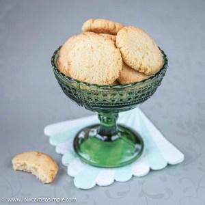 5-Ingredient Dairy-Free Egg-Free Keto Lemon Cookies | Low-Carb, So Simple