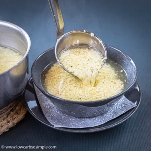 Serving the Stracciatella Soup   Low-Carb, So Simple