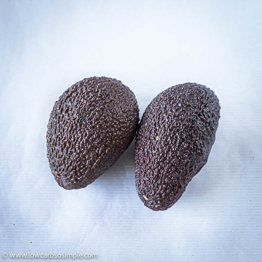 Two Ripe Hass Avocados | Low-Carb, So Simple