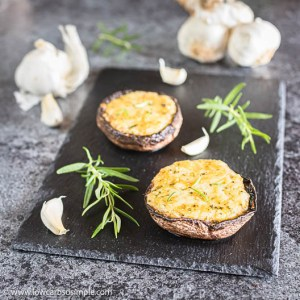 5-Ingredient Grilled Gratinated Portobello Mushrooms   Low-Carb, So Simple