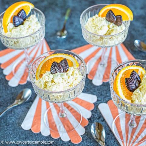5-Ingredient Keto Orange Rice Pudding   Low-Carb, So Simple