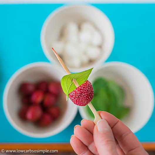 Lemon Basil Leaf in a Skewer   Low-Carb, So Simple