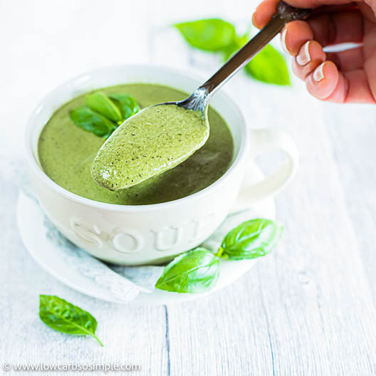 Nourishing 5-Ingredient Dairy-Free Spinach Soup | Low-Carb, So Simple