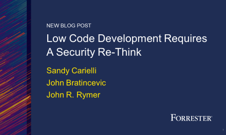 Low-Code Development Requires A Security Rethink