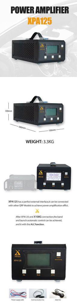 Xiegu XPA125 QRP ALC Antenna Tuner