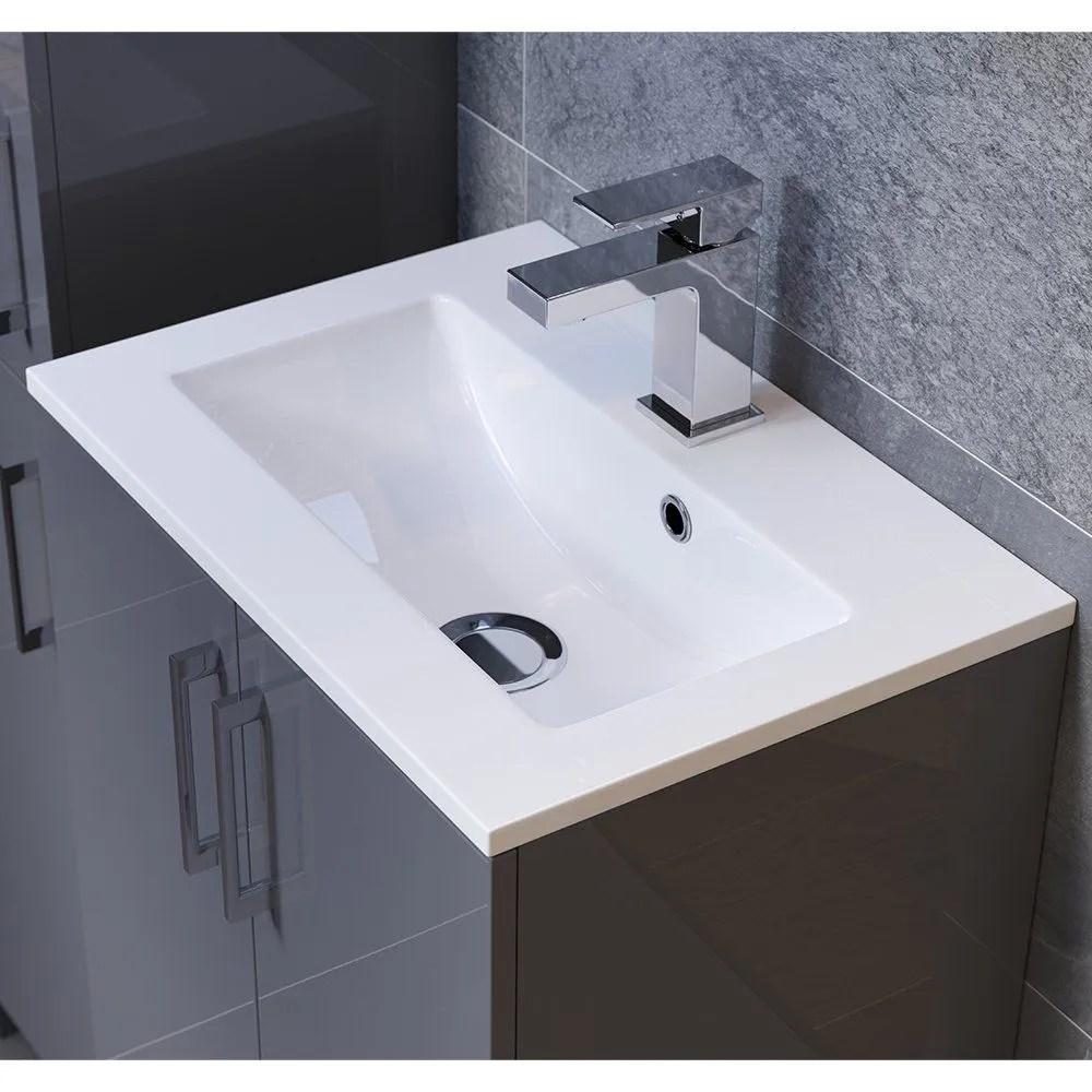 btl volta 1207mm space saving vanity basin wc pack white gloss