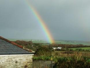 pic 20 view toward Dartmoor with rainbow