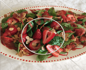 Baby Spinach Salad with Strawberries and Toasted Almonds