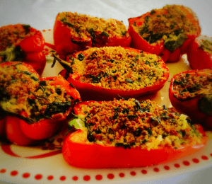 Roasted Stuffed Capsicums (Bell Peppers)
