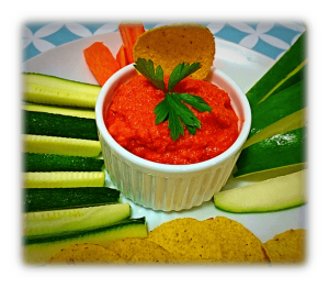 Chickpeas and Roasted Pepper Dip