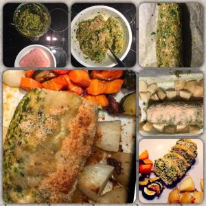Low FODMAP Meatloaf and roasted vegetables