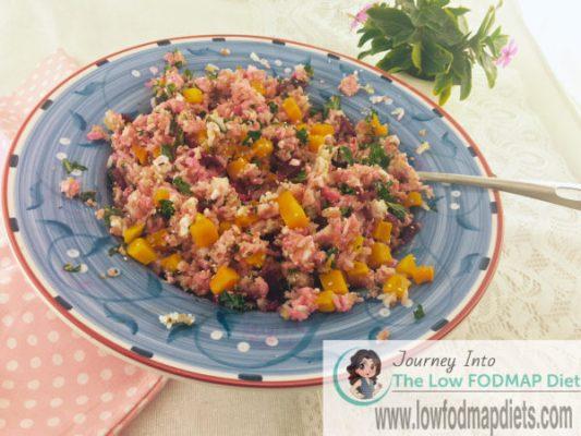 Low FODMAP Quinoa and Rice Salad