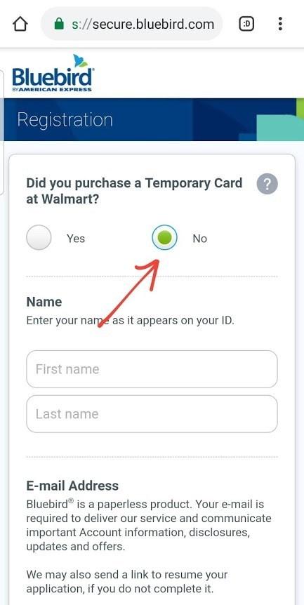 """""""Request a Bluebird Card via the Mobile App 2"""""""