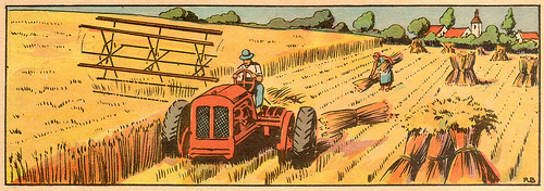Tractor_horse_agriculture_drawing