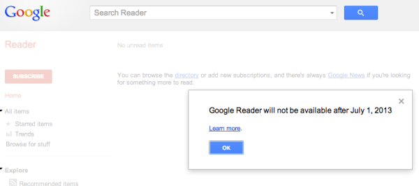 No More Google Reader