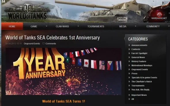 World of Tanks SEA